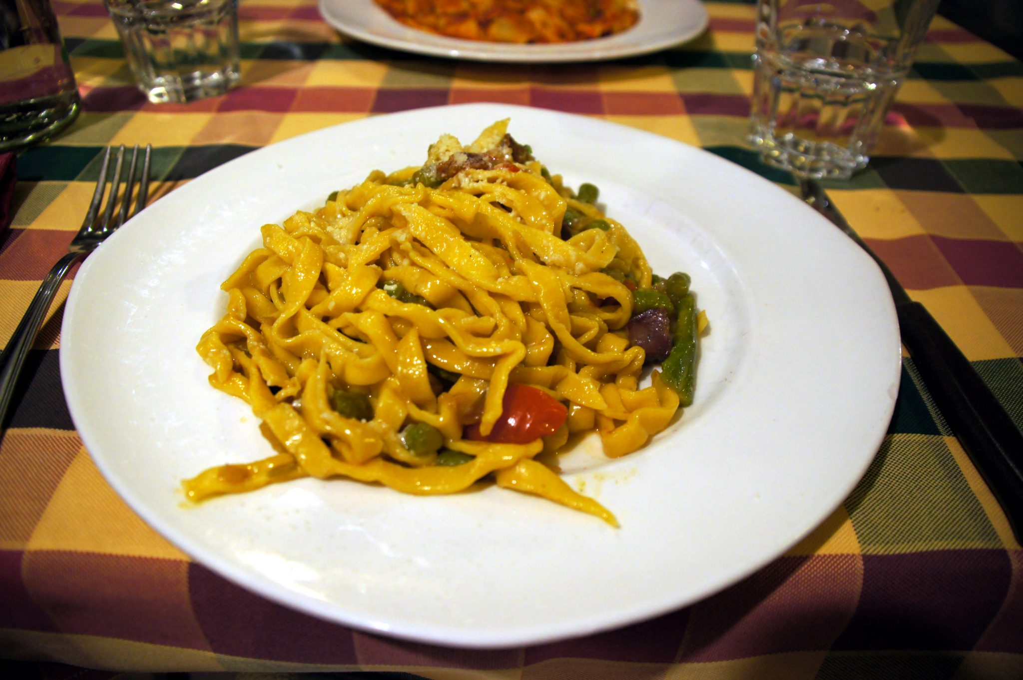 home made italian pasta in rome