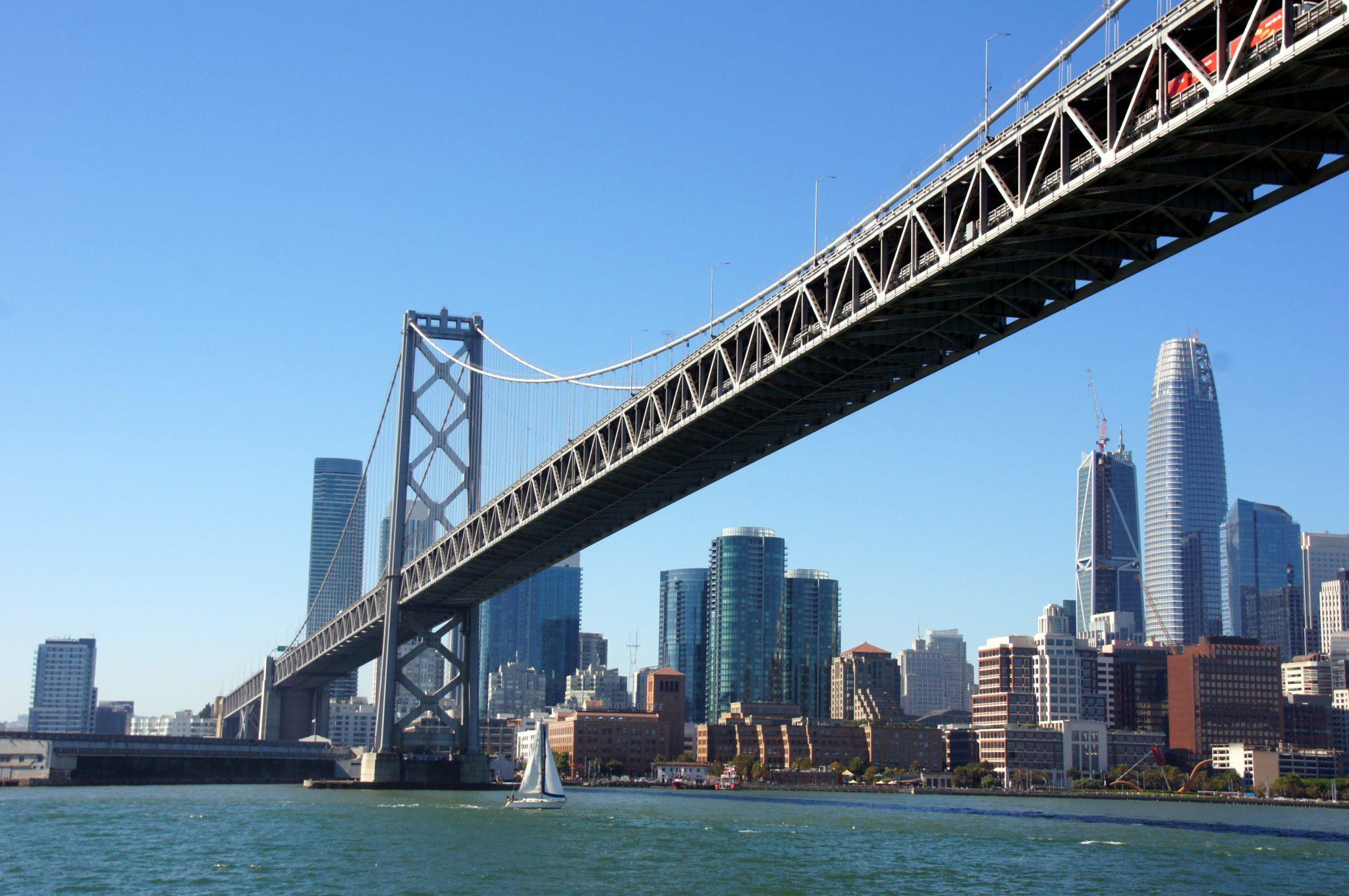Baybridge with skyline of San Francisco