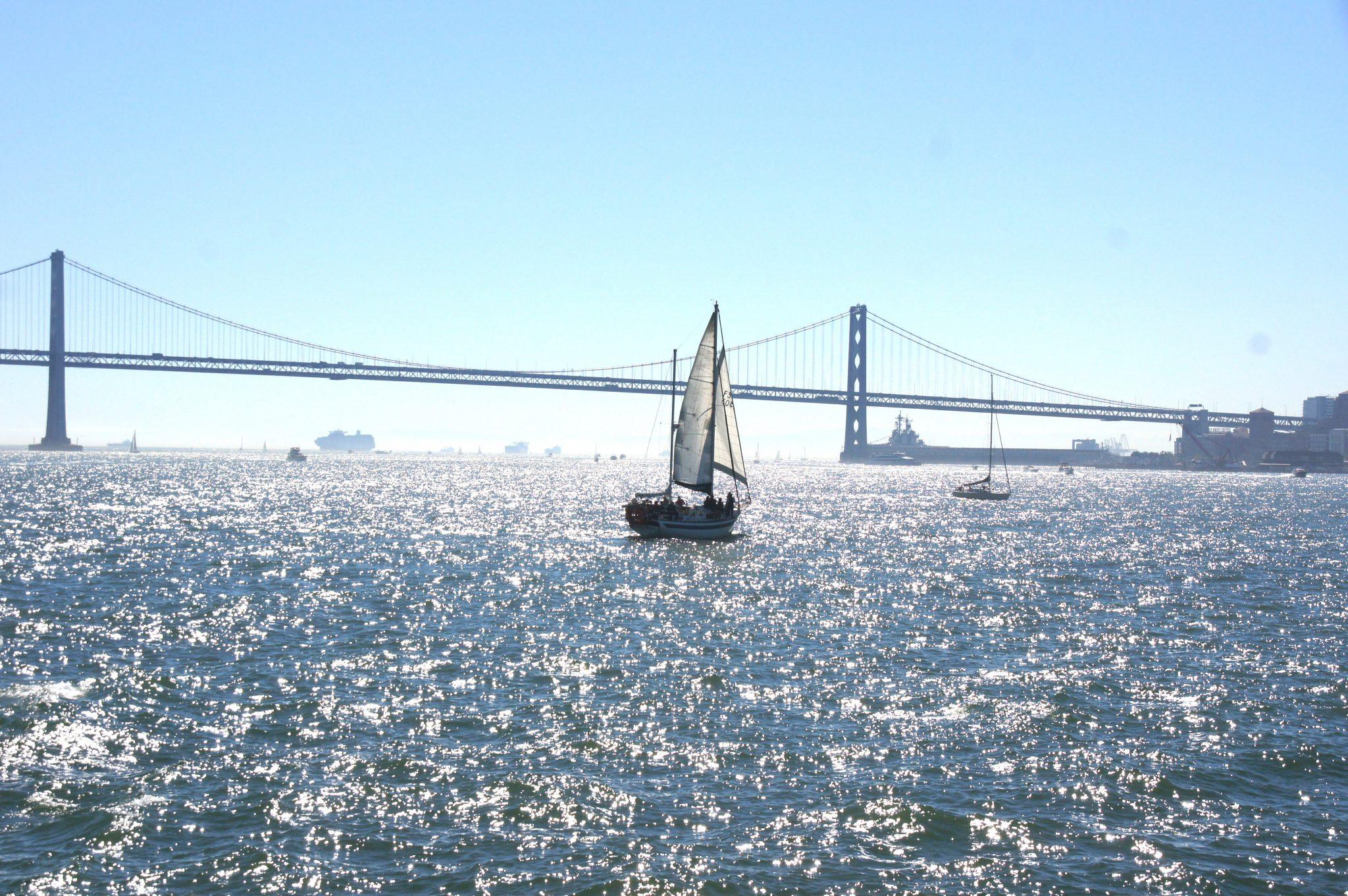 Baybrige with sailboat