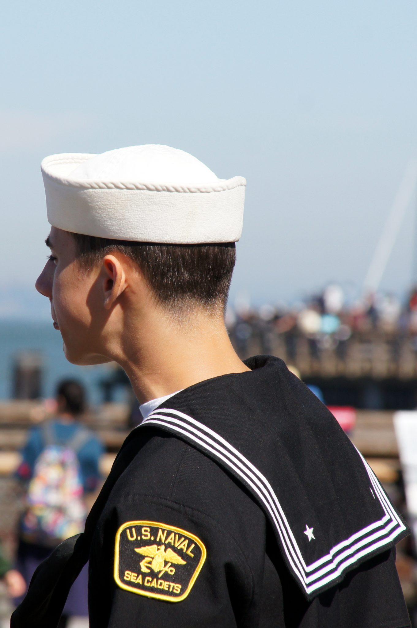 U.S Naval in his uniform