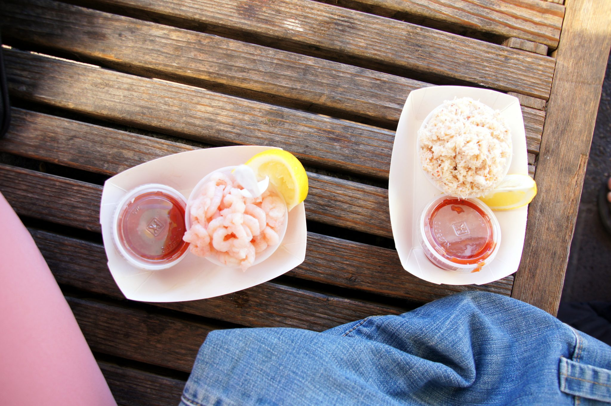delicious seafood: crab cocktail and shrimps