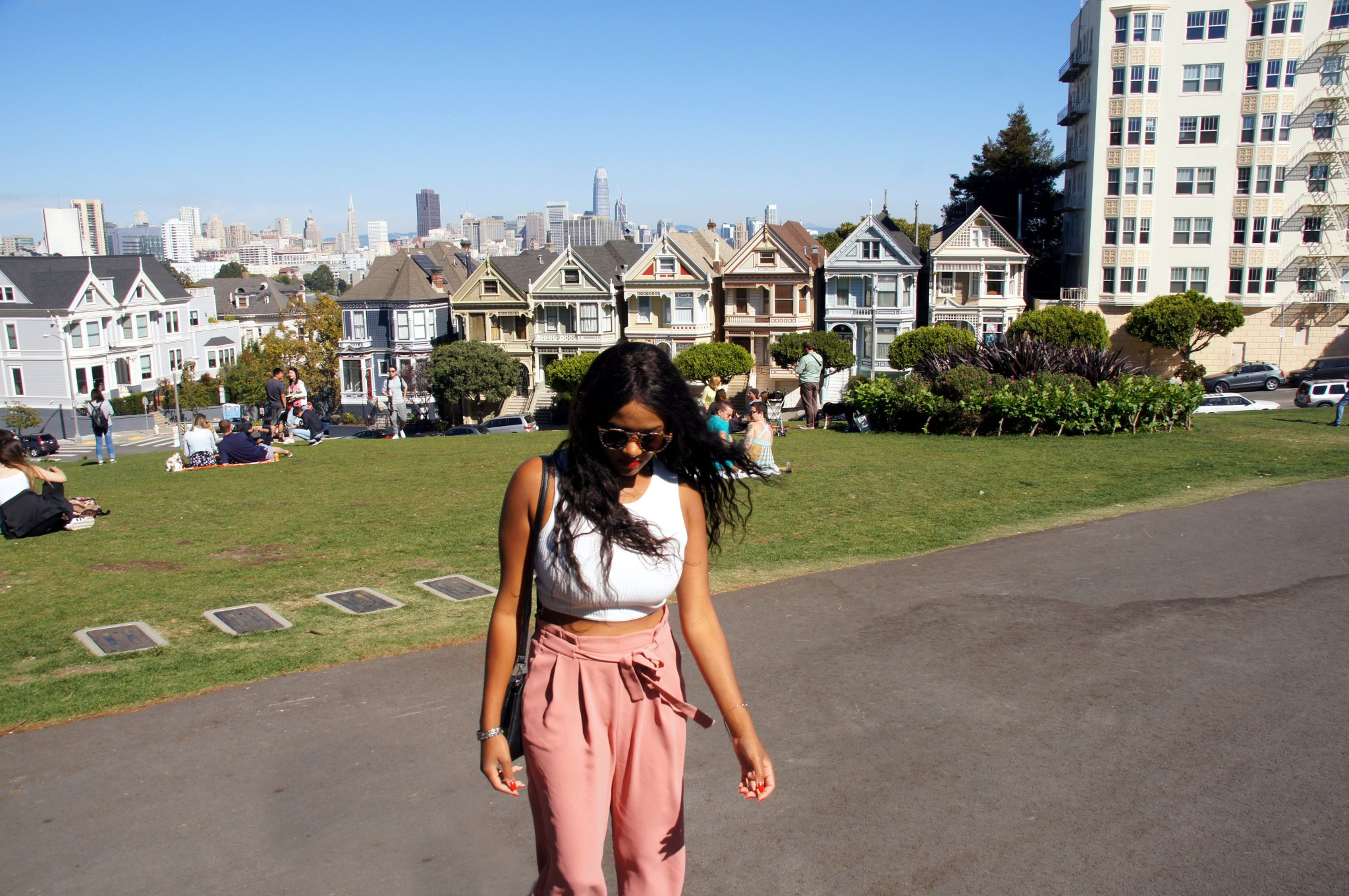 Me in front of the Painted Ladies