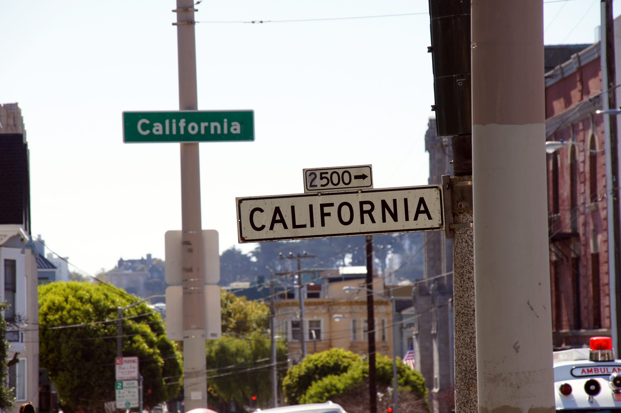 California Street sign in San Francisco