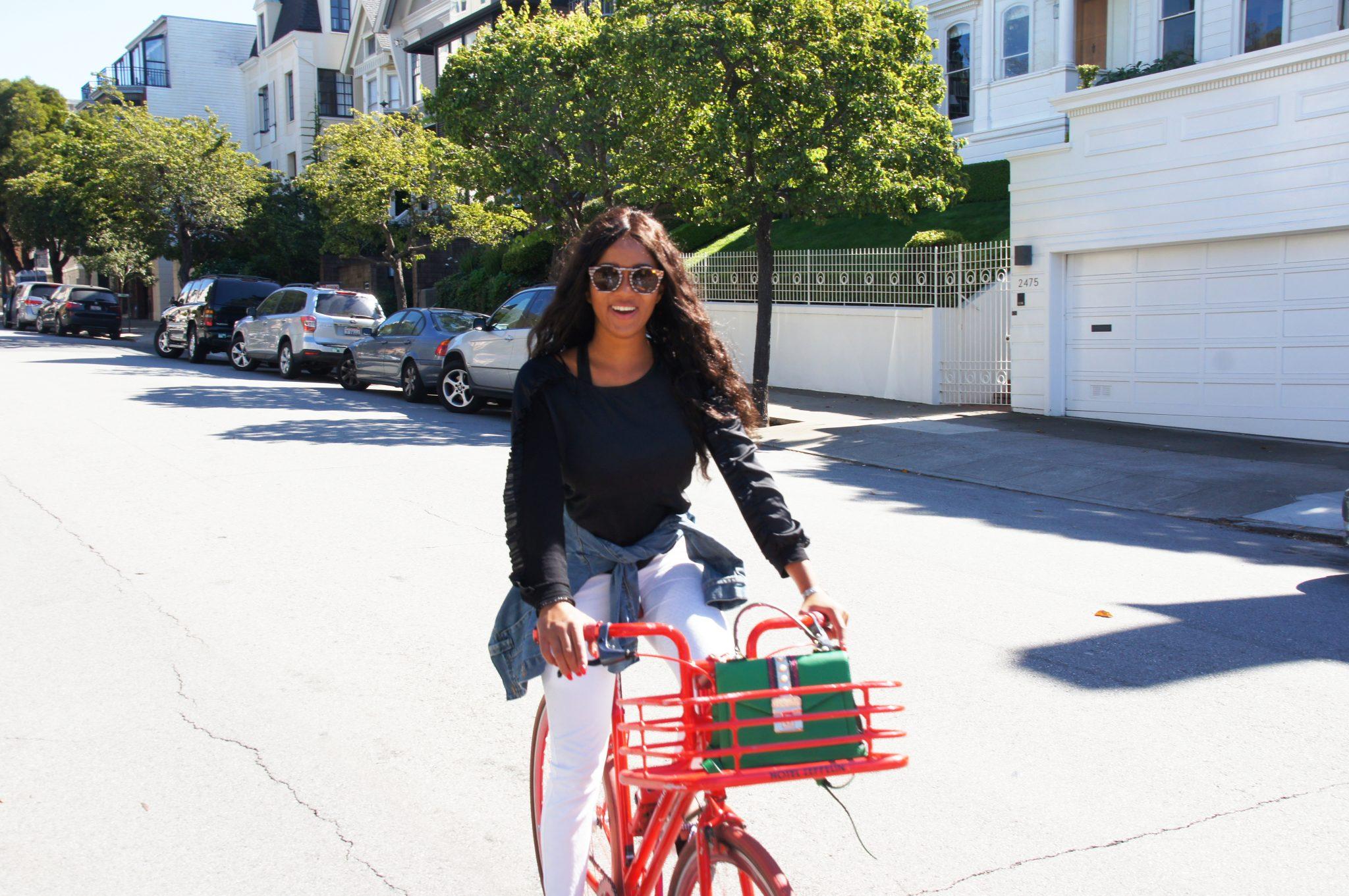 Me on the red bike in San Francisco