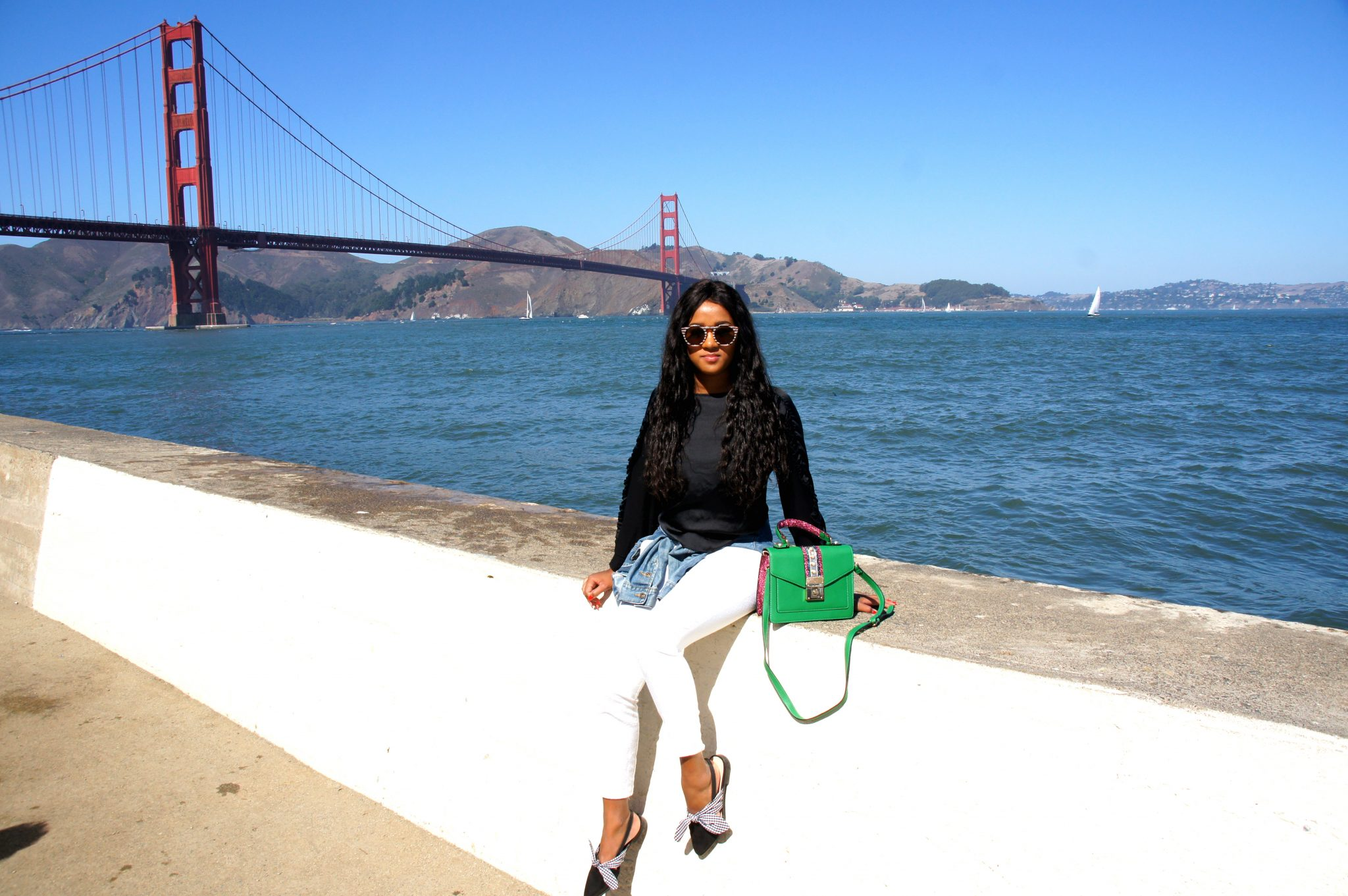 Me in front of the Golden Gate Bridge