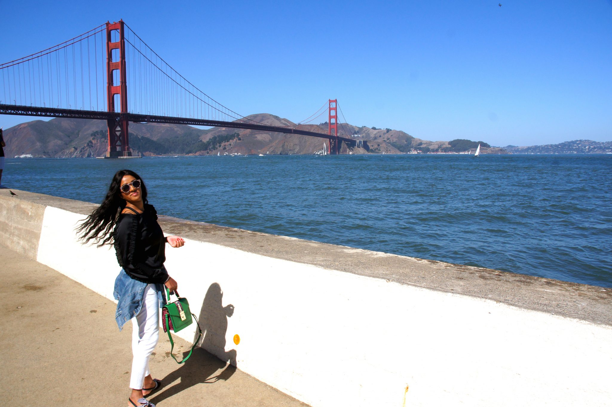 Me with my new Aldo Bag in San Francisco