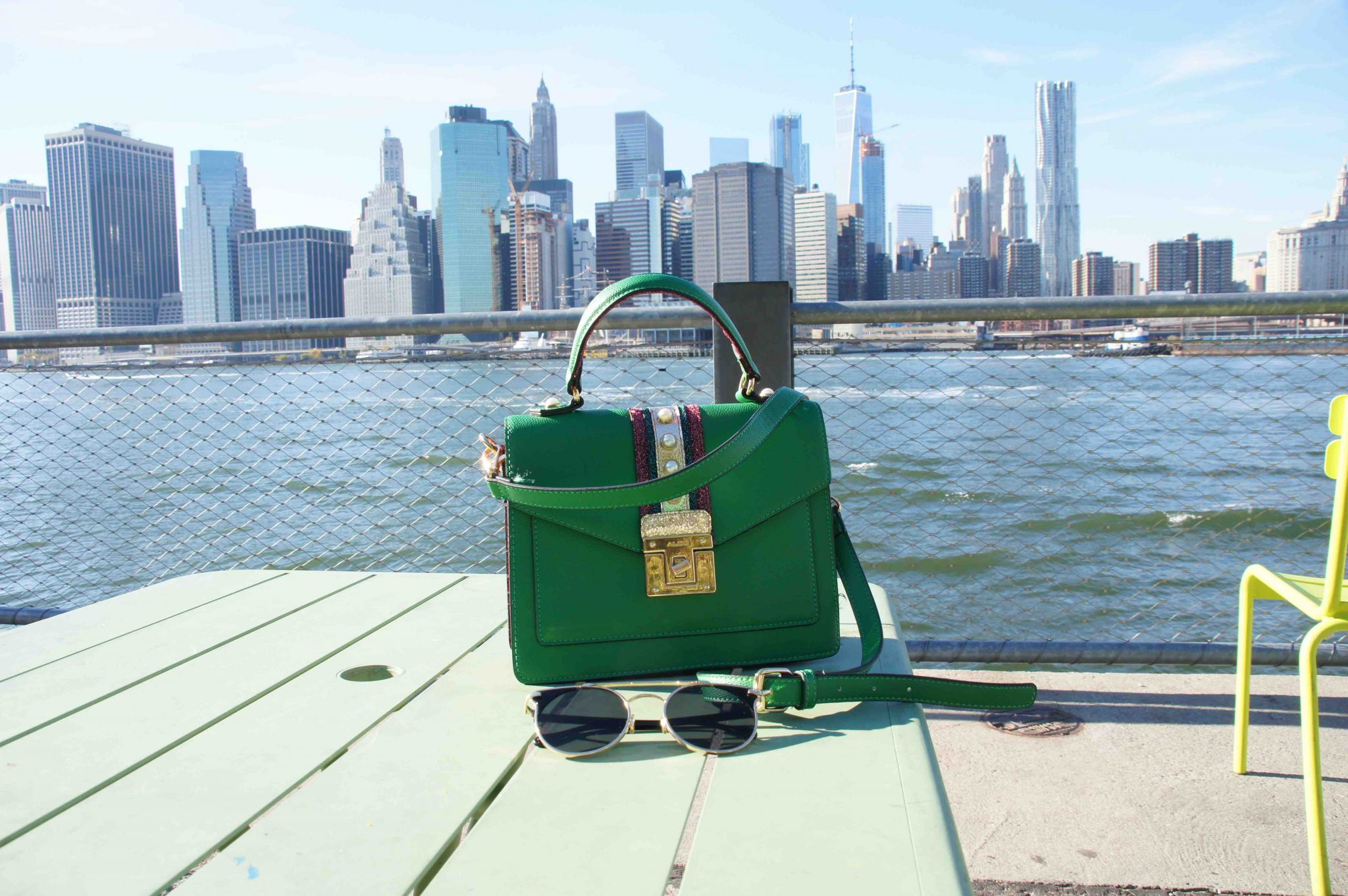 Small Bags Feature - Green Bag in New York
