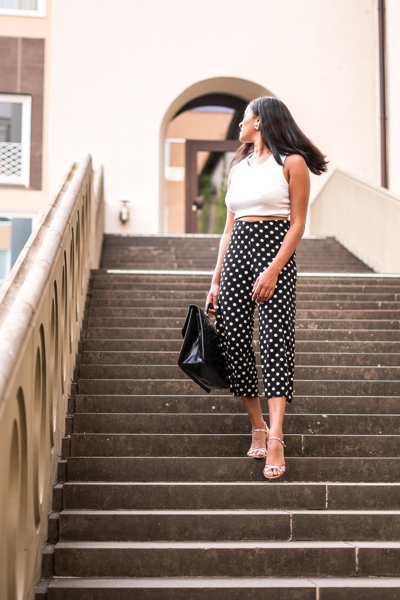 Black and White: The Polka Dot Culotte