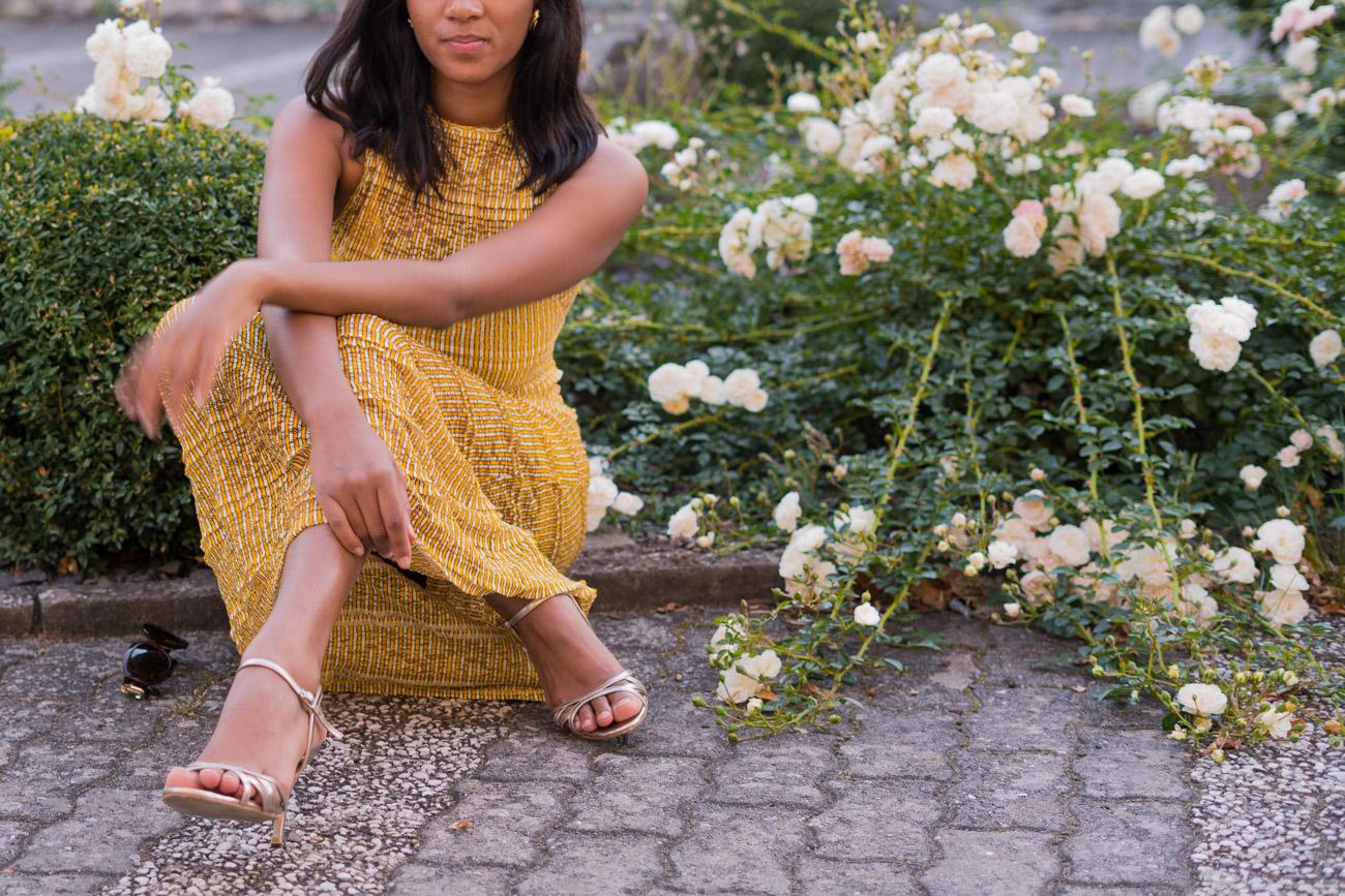 Yellow Autumnal Maxi Dress Mustard Yellow Fall Vibes