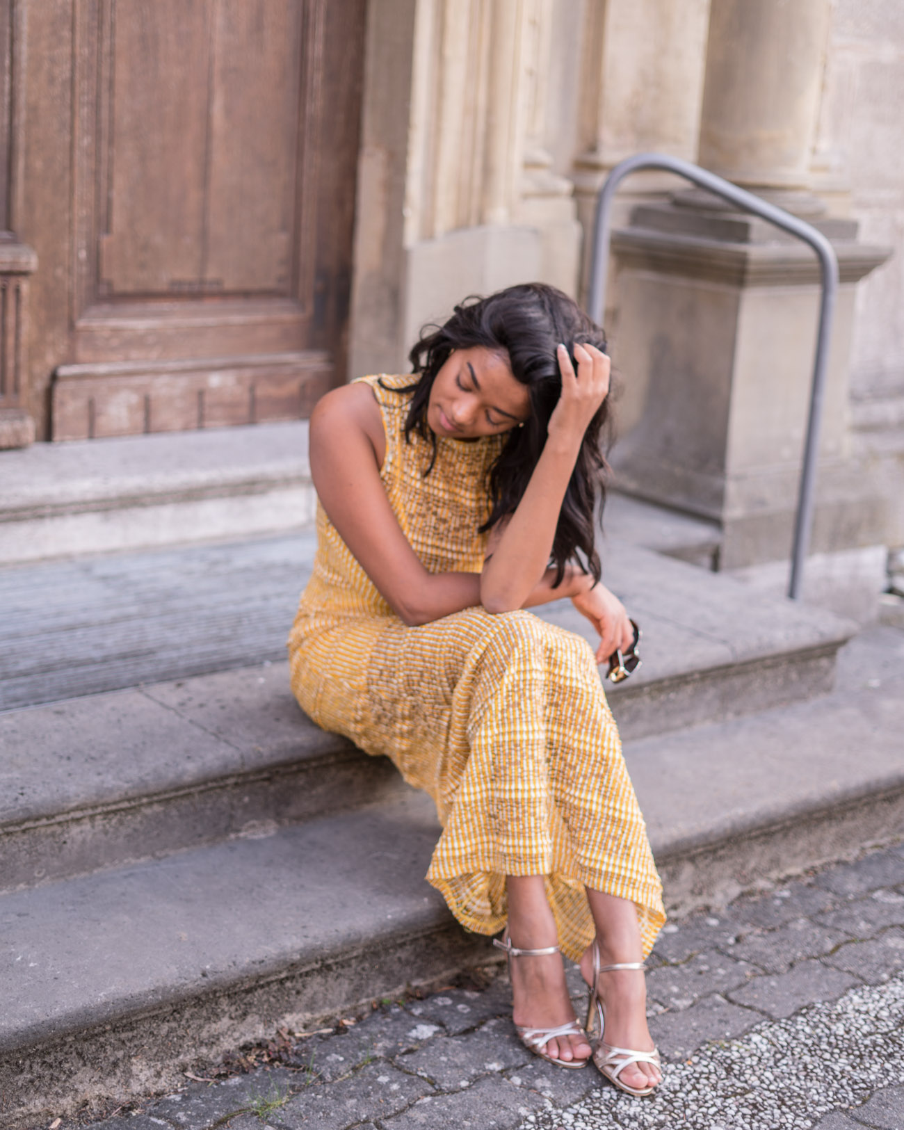Yellow Autumnal Maxi Dress Mustard Yellow Fall Vibes