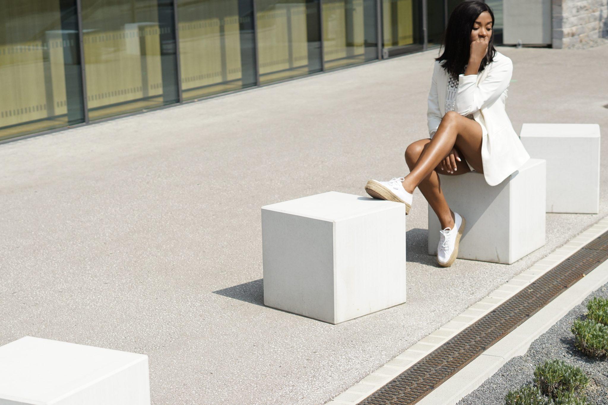 White Blazer - All White Look