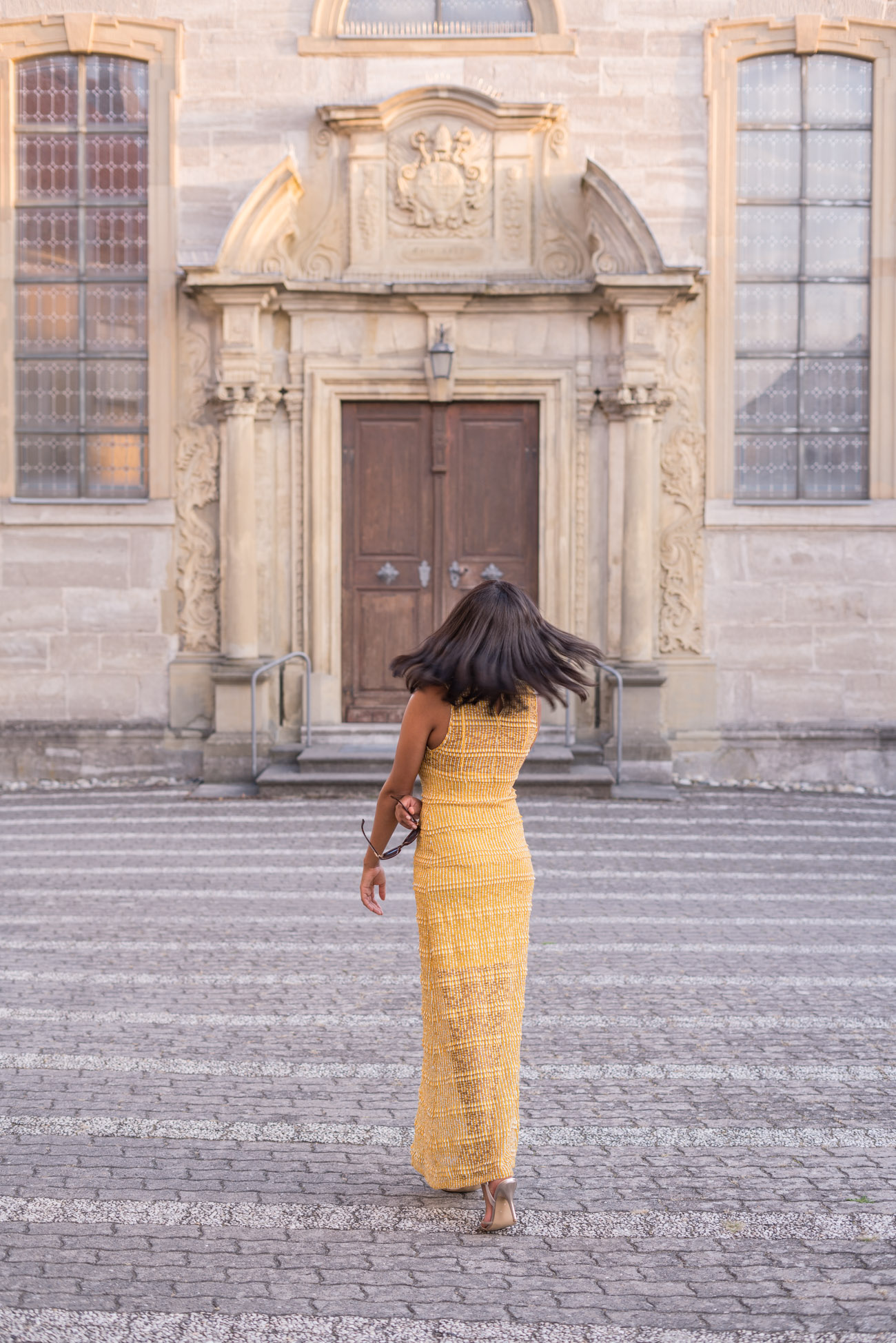 Yellow Autumnal Maxi Dress Mustard Fall Vibes