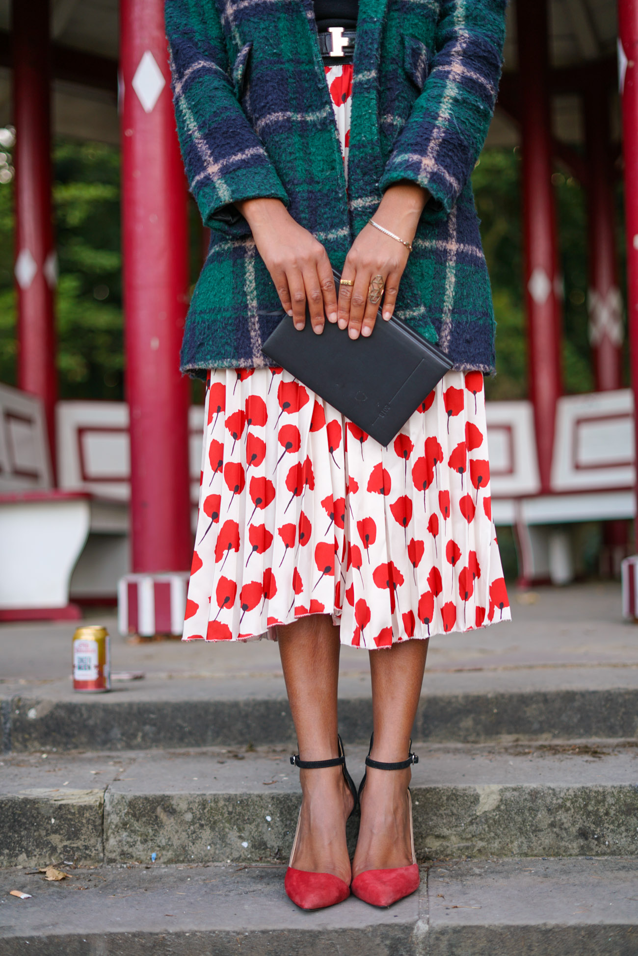 Mixed Pattern: The Coat-Skirt-Combo