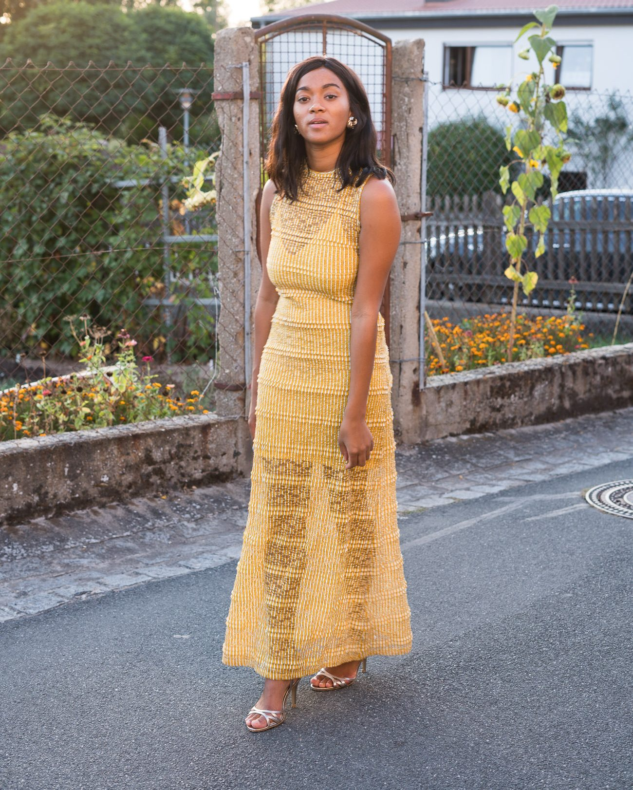 Yellow Maxi Dress Mustard Yellow Fall Vibes Autumn Wear