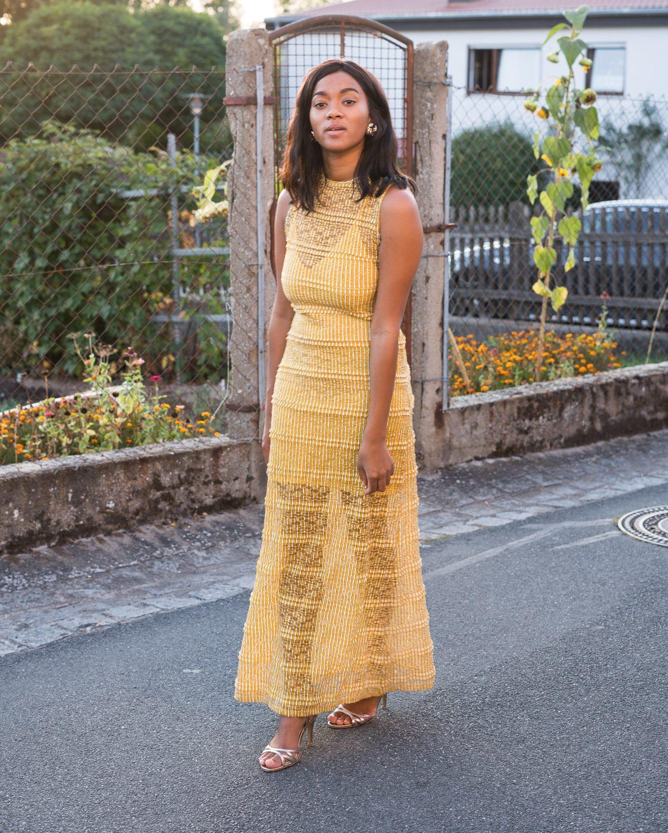 Yellow Maxi Dress Mustard Yellow Fall Vibes Autumn Wear