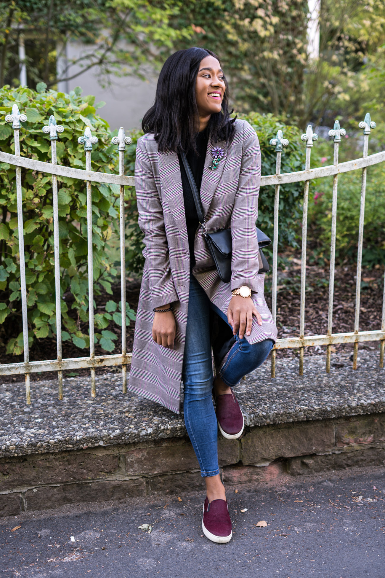 Checked Coat Casual Fall Street Style Jeans Fall Outfit Fall Style Autumn Look