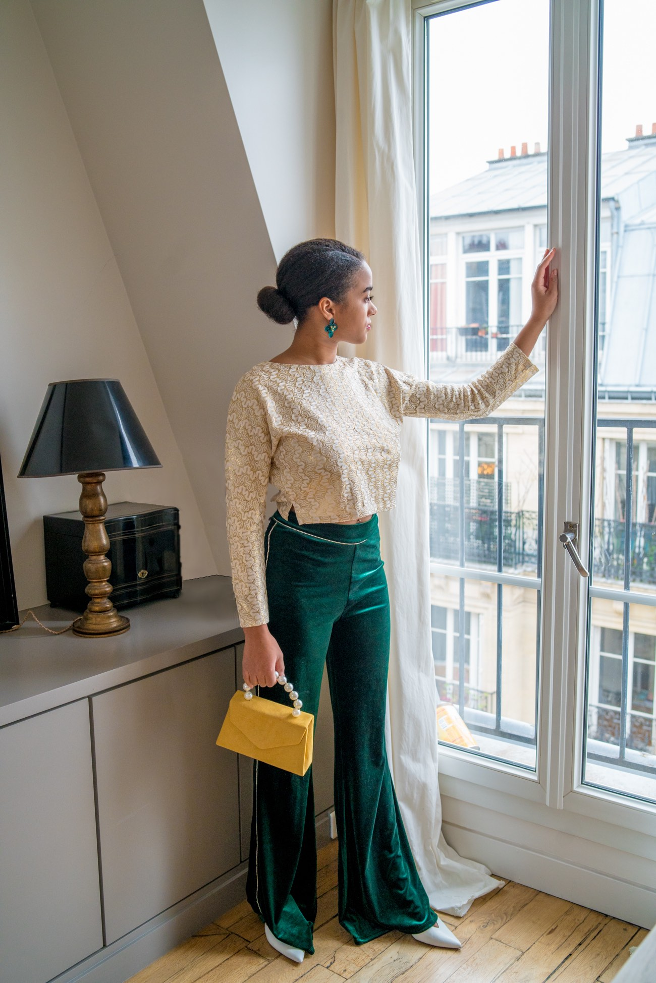 MeetMiri Changes in 2019 // Green Silk pants