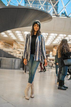 Pailettenjacke New Year Resolutions Louvre Pailetten