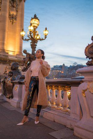 Paris in Winter Pont Alexandre Fashion Blogger