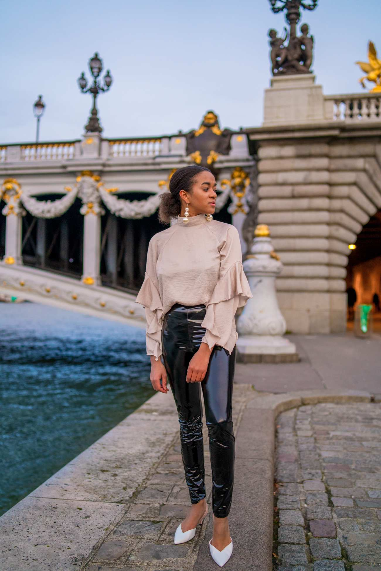Paris in Winter Pont Alexandre Fashion Blogger