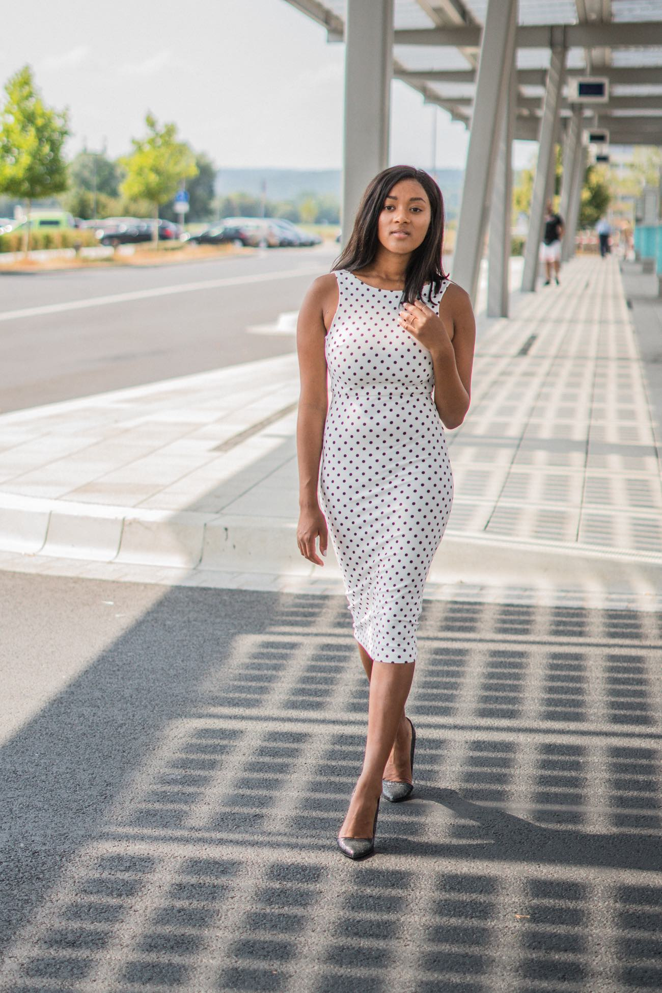 Black Girl Wearing Bodycon Midi Dress