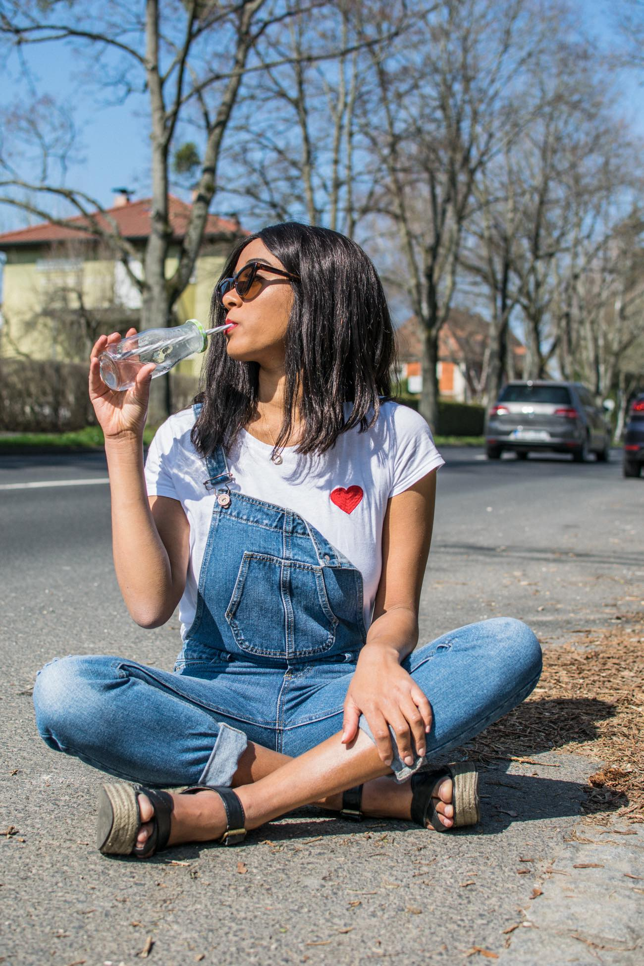 Social Good, Save water, Charity, Girl in dungarees