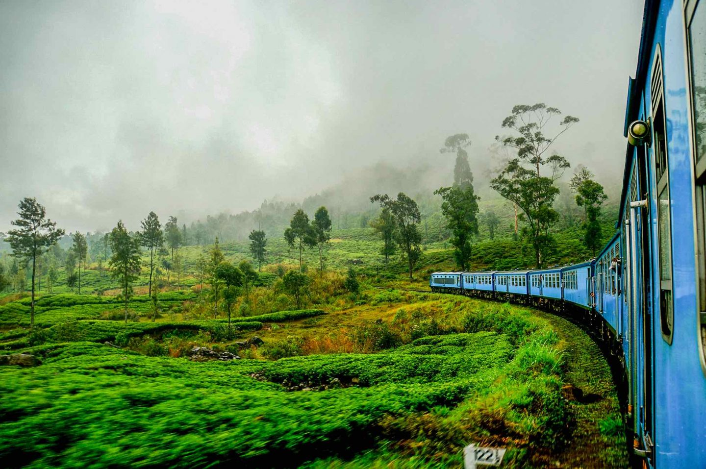 Train ride in Nuwara Elia