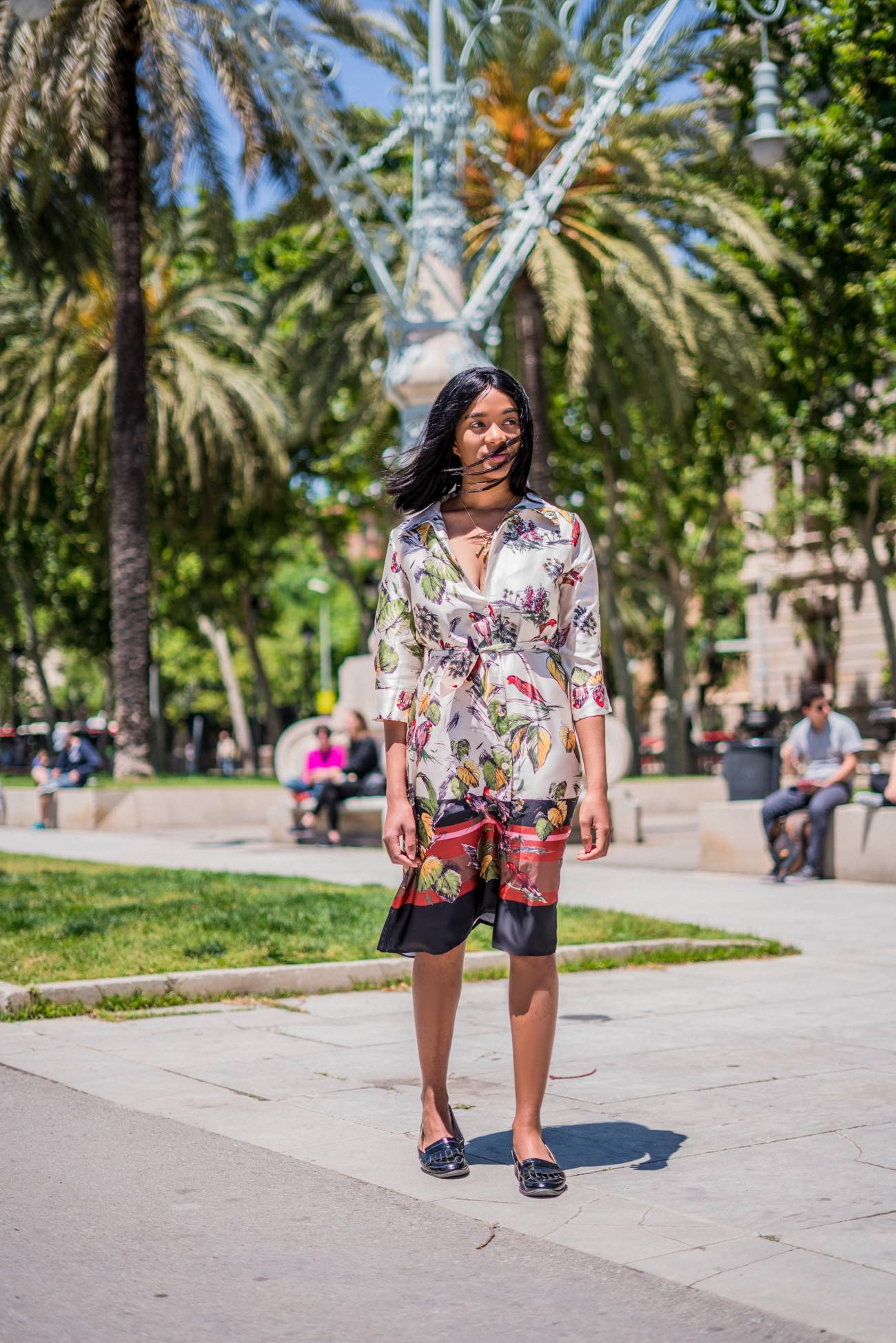 Pretty girl in a floral shirt dress - comparing yourself to others