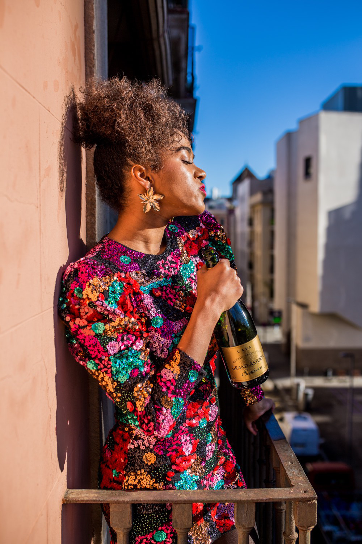 pailettenkleid mode blogger barcelona sequin dress