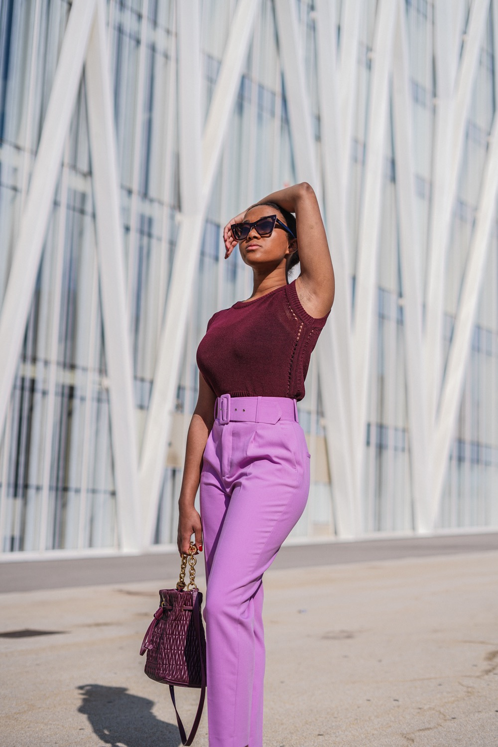 affordable online shop all purple outfit