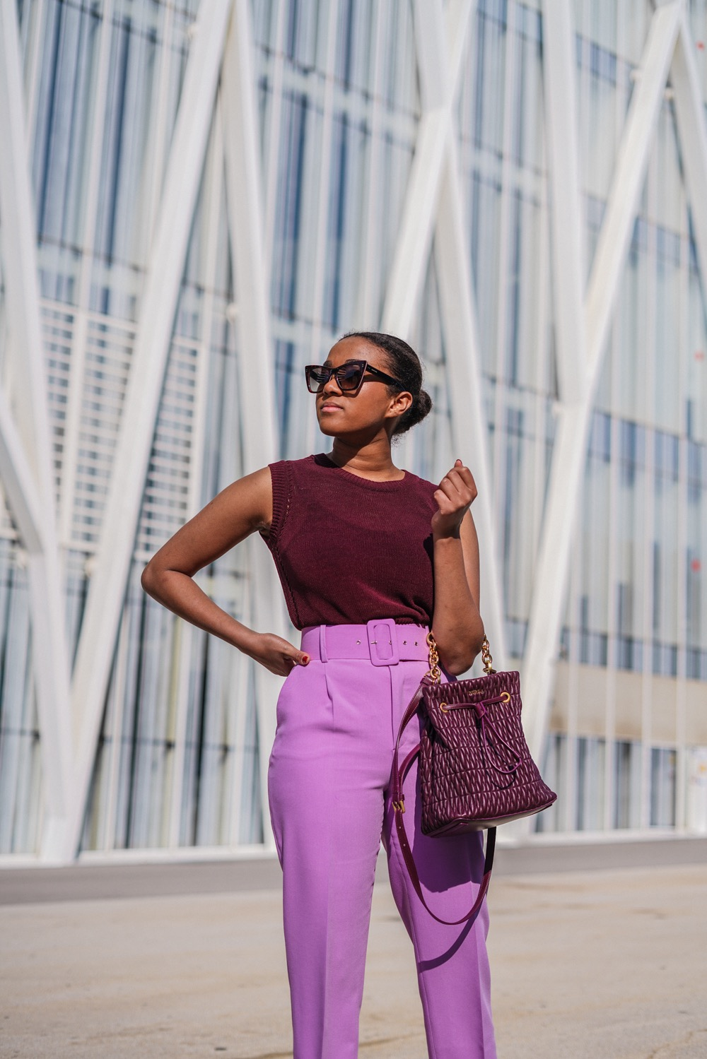 online shopping inspiration all purple look