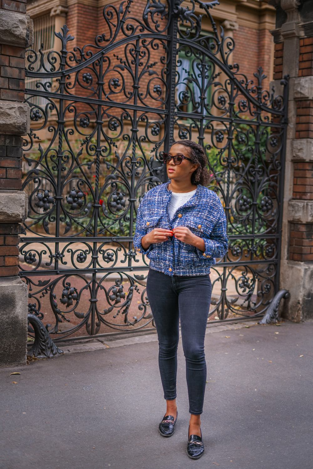 blue boucle jacket summer trend 2020