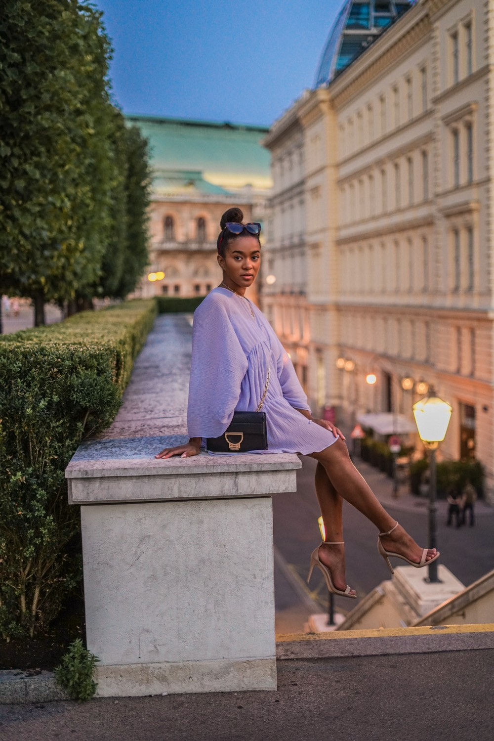 Midnight in Vienna: Wearing a Light Blue Summer Dress