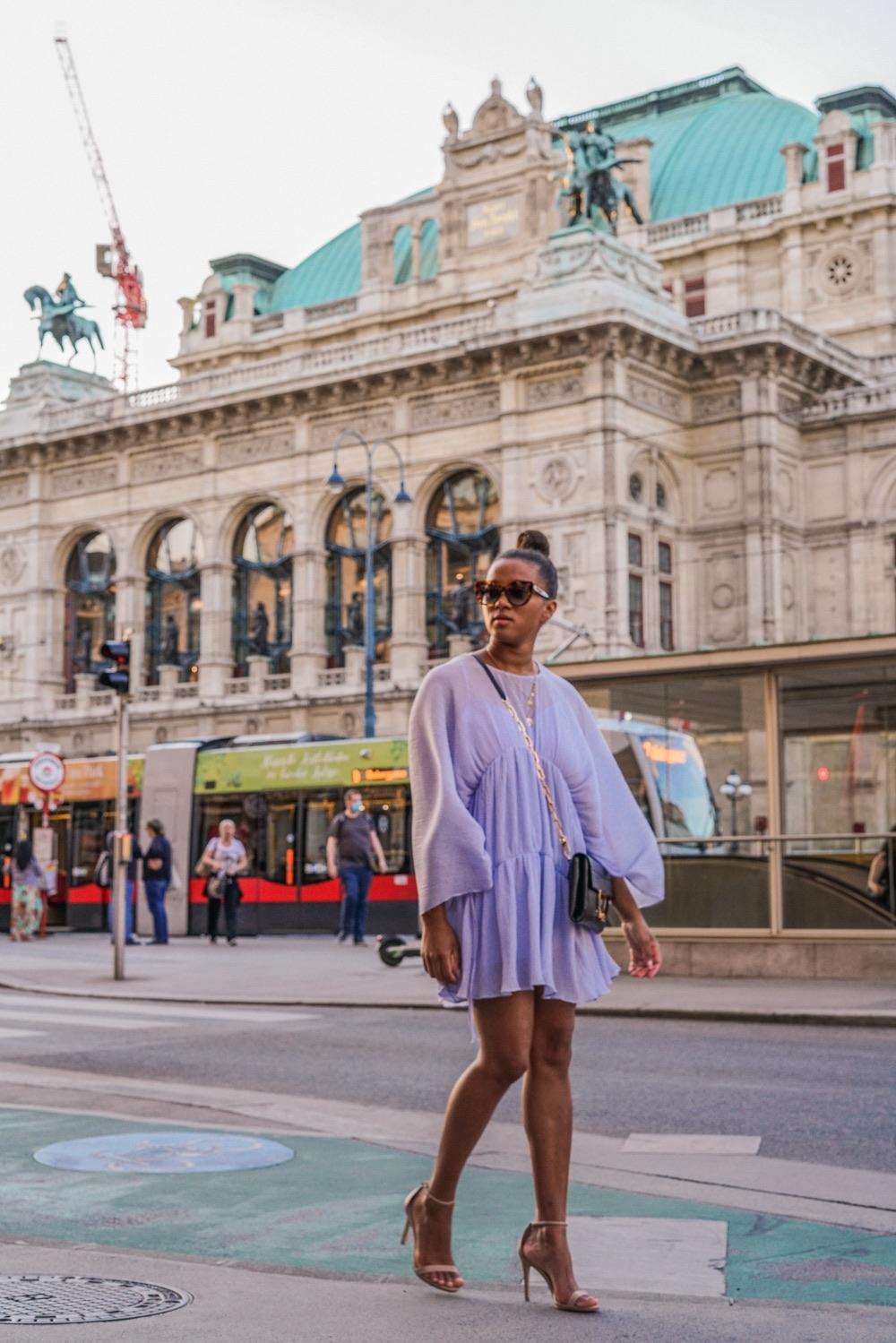 Staatsoper ViennaLight Blue Summer Dress