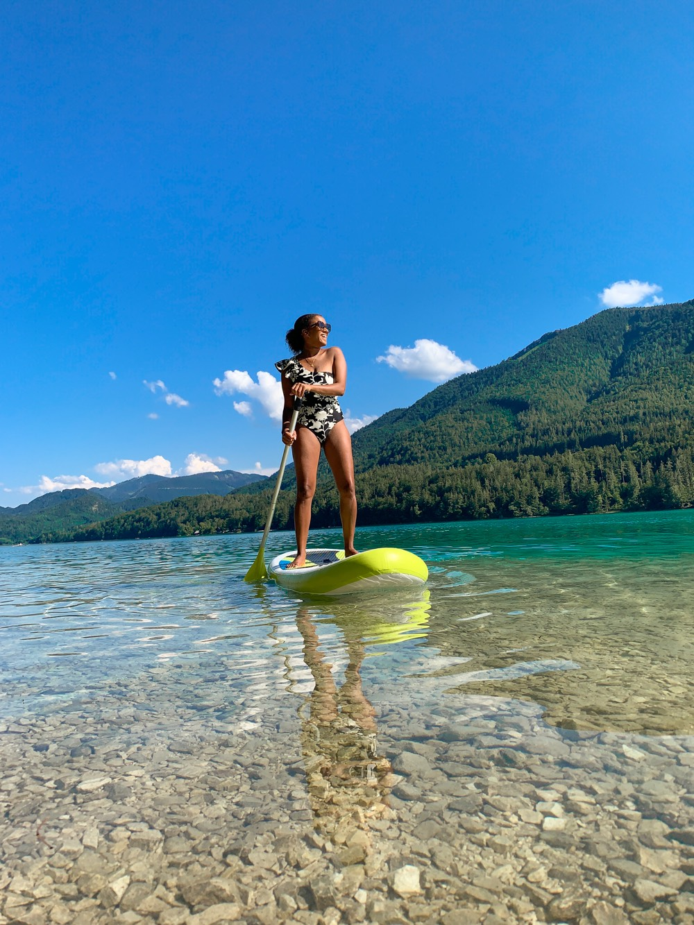 Summer Activity Stand Up Paddling Fuschlsee