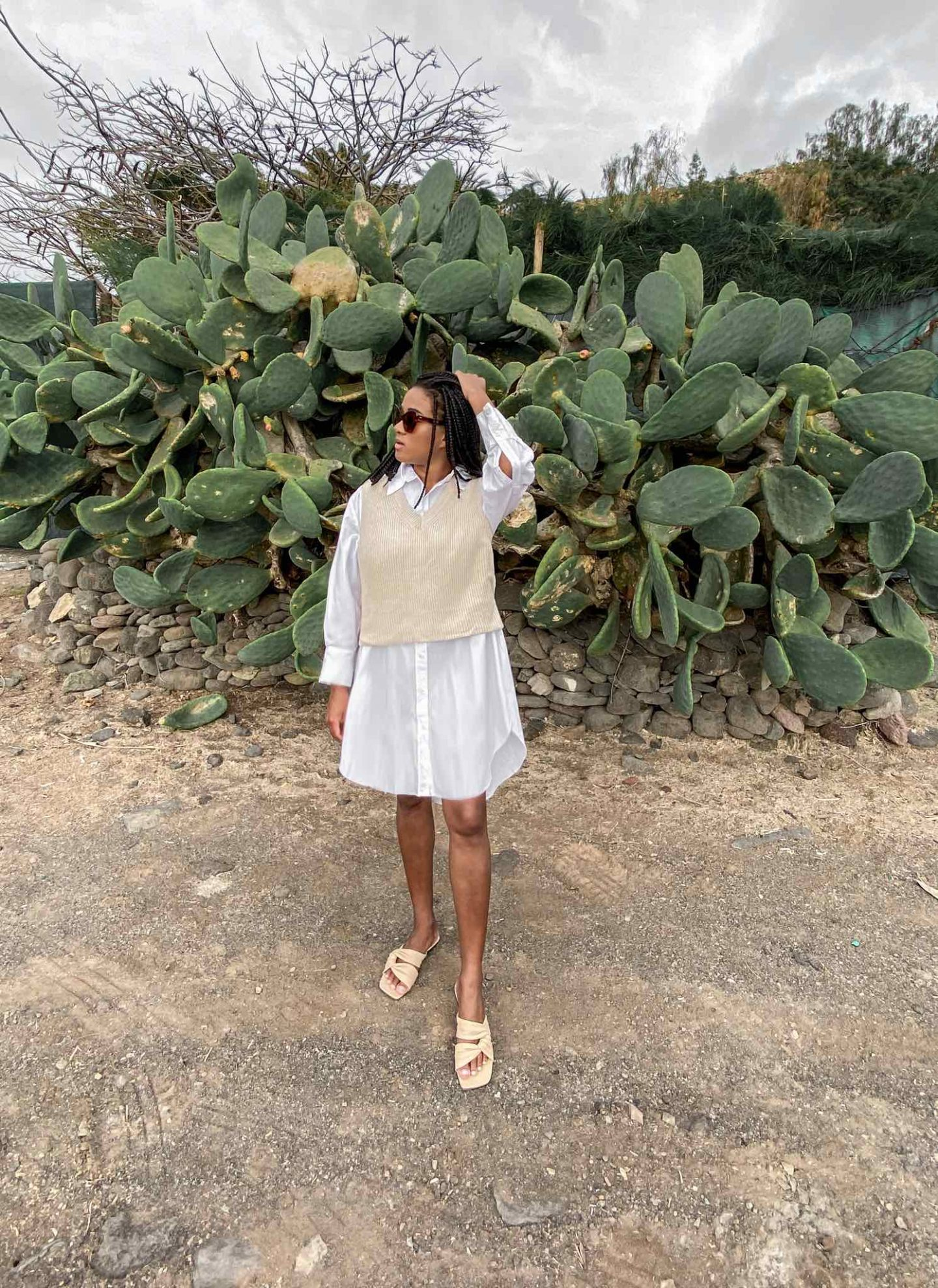 Sleeveless Sweater City Style, ootd, winter combination