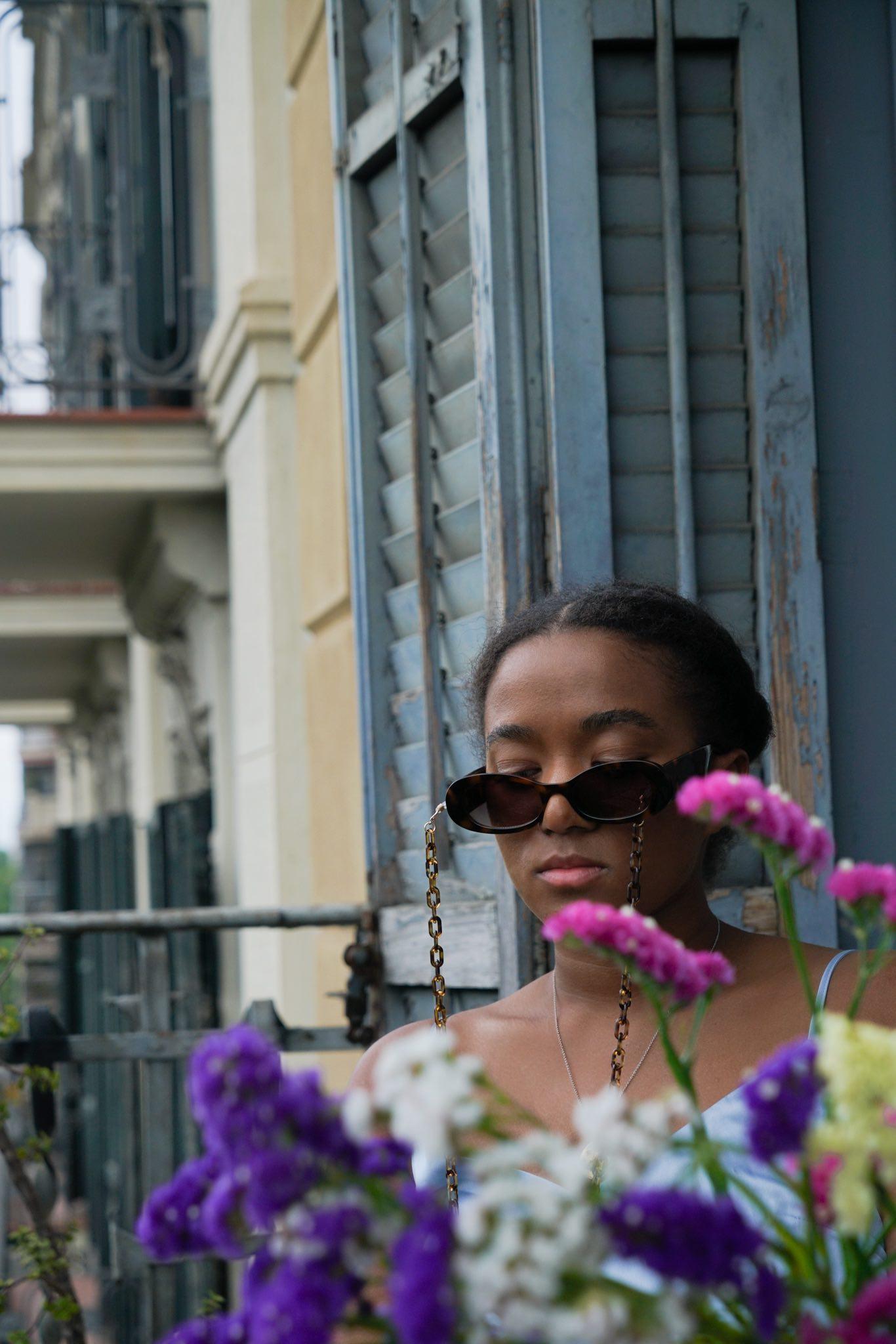 Silk dress Barcelona shooting