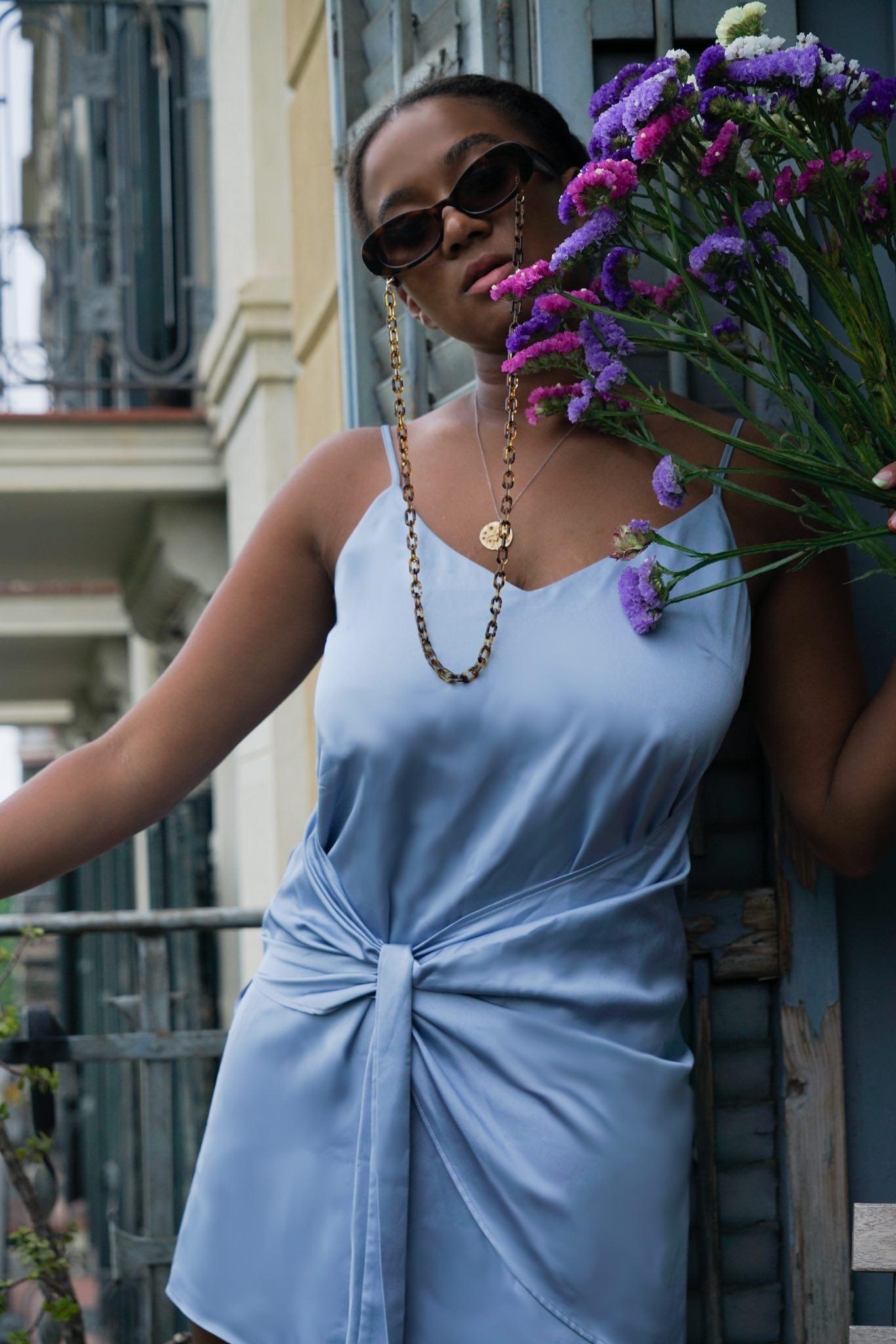 Barcelona Blogger blue Dress