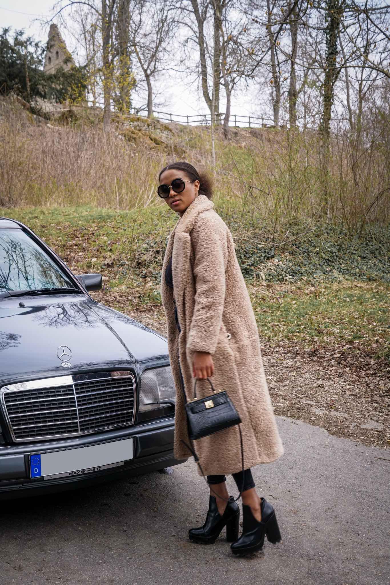 teddy coat look German fashion blogger