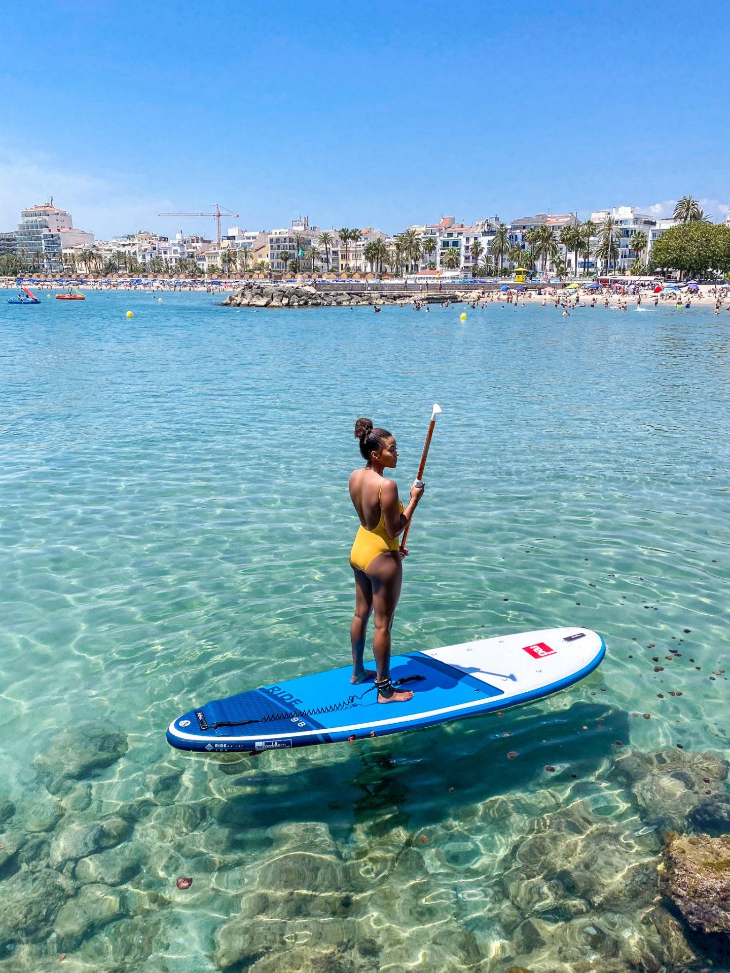SUP board Mediterrean Sea