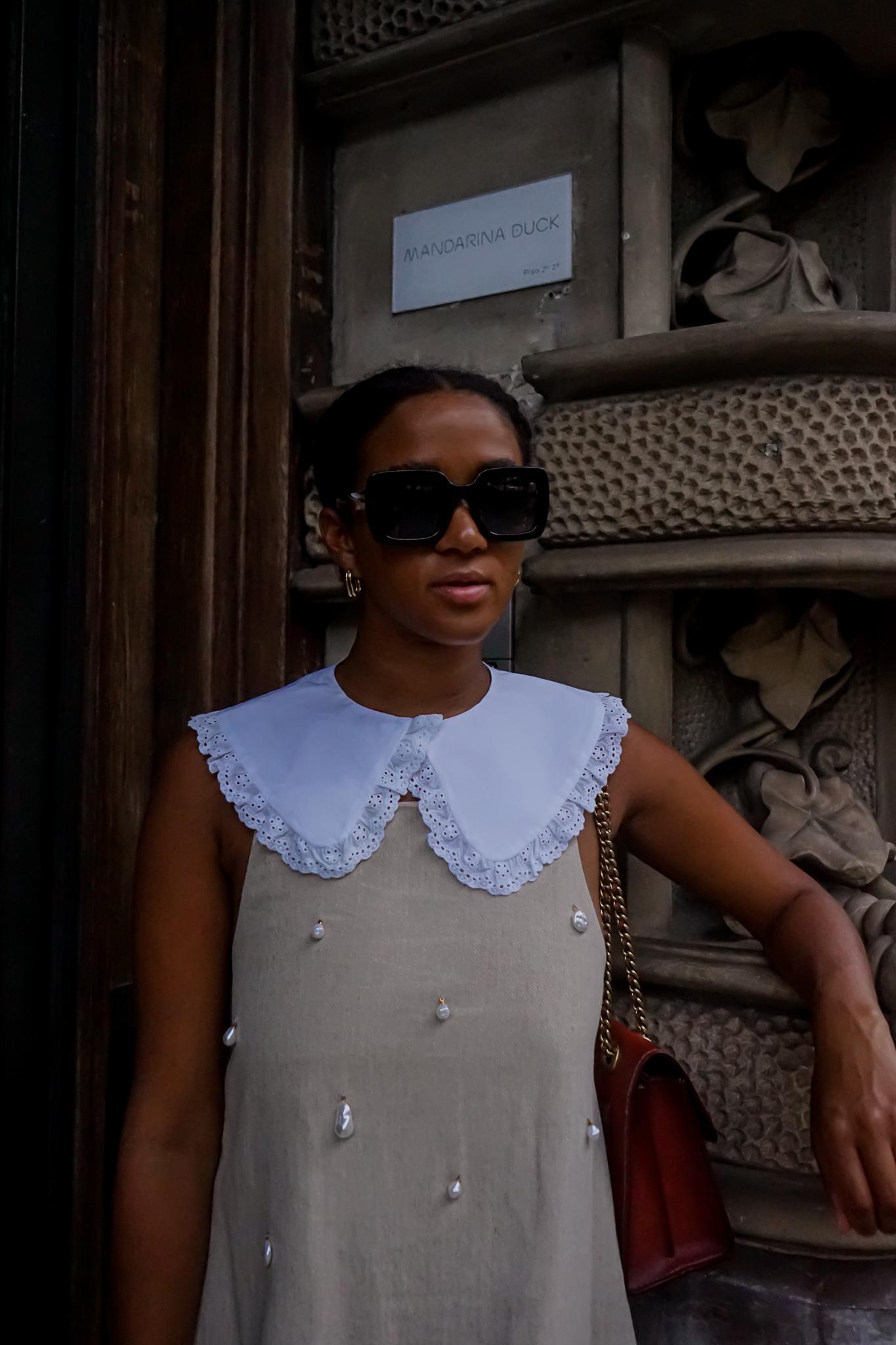 white pilgrim collar outfit fashion blogger
