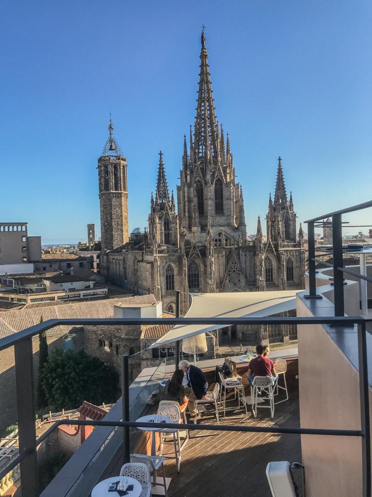 Hotel colon rooftop Barcelona
