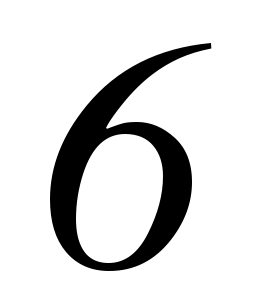 six, 6, number, number, #