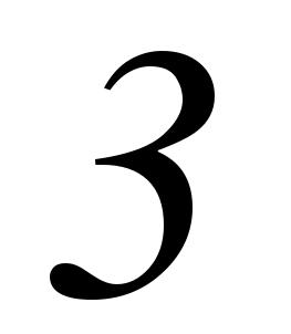 three, 3, number, number, #