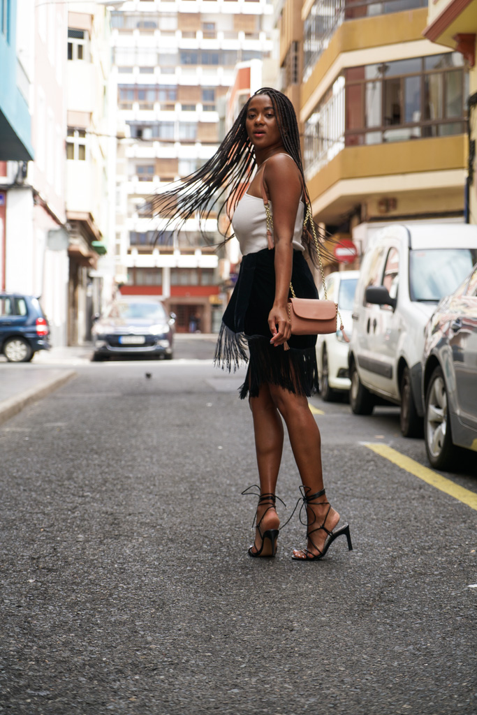 fringes with heels in Gran Canaria